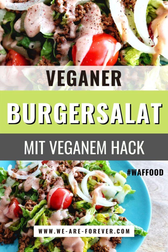 salat mit veganem hack