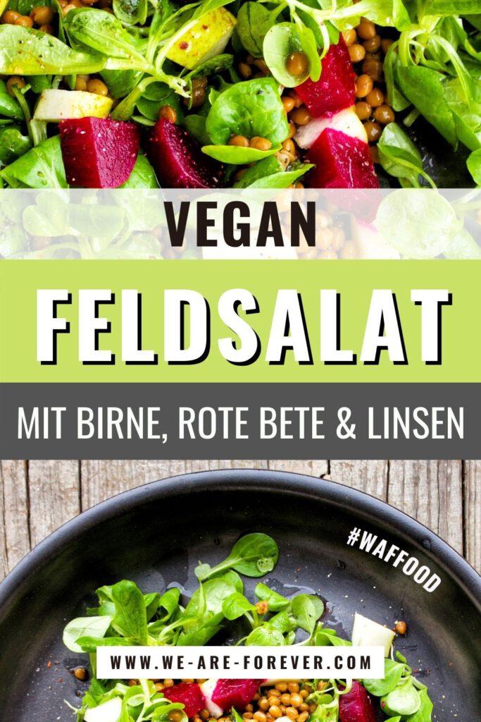 veganer salat mit rote bete und linsen