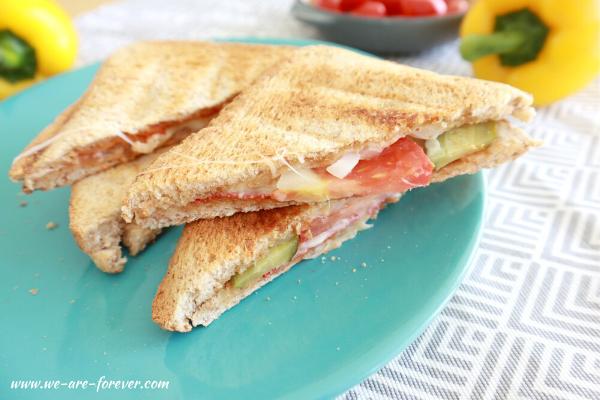 vegetarische rezepte für den sandwichmaker