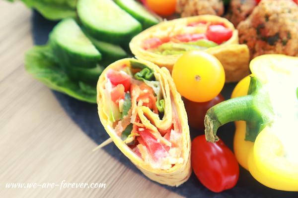 wrapschnecken vegan und vegetarisch rezept