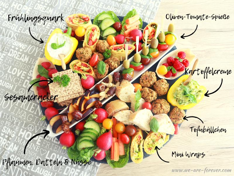 vegane snackplatte