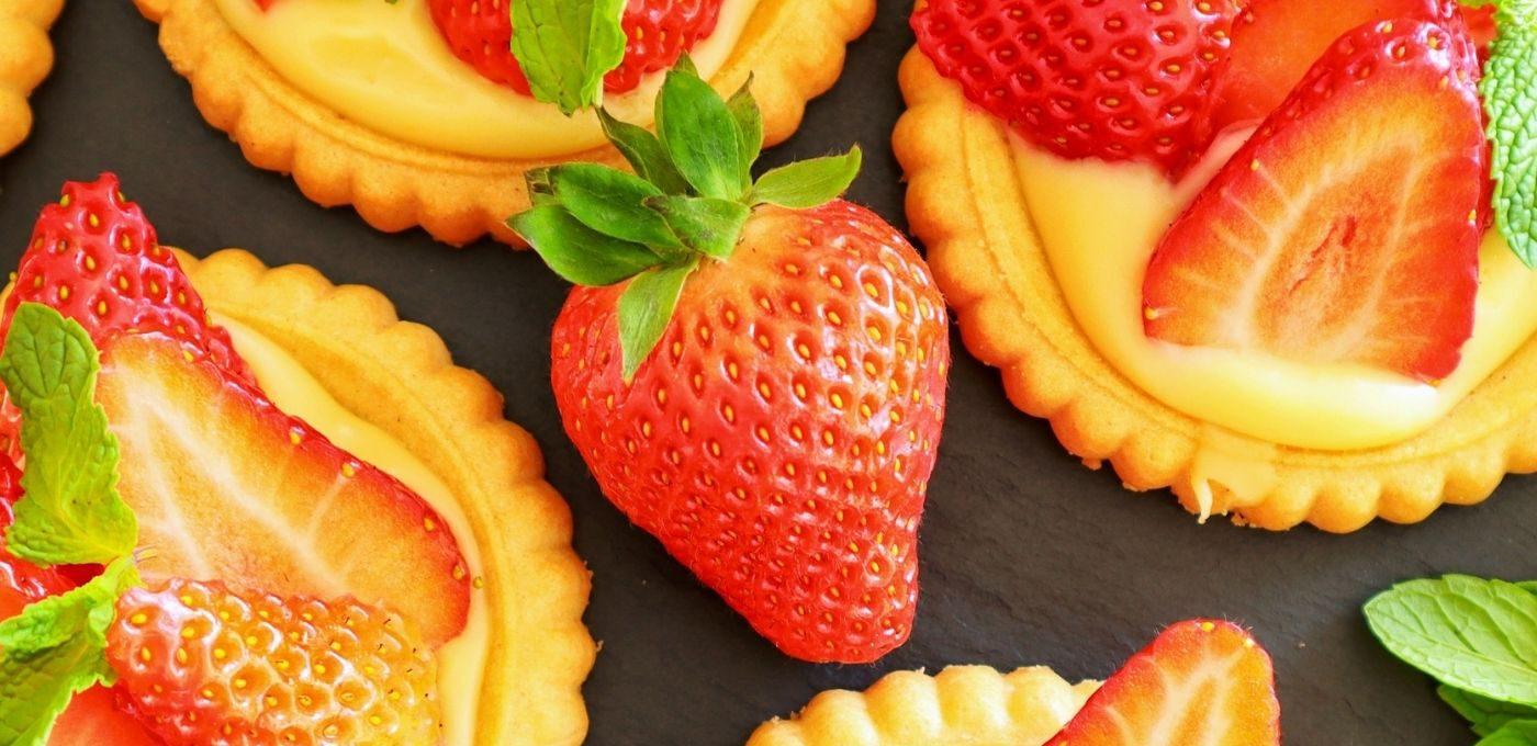 Erdbeertörtchen ohne backen