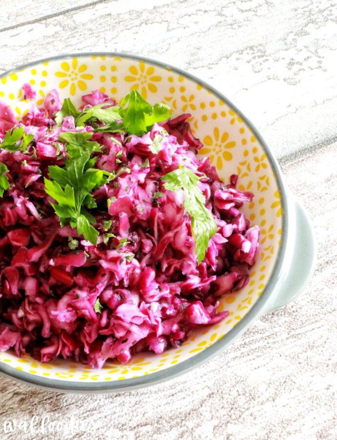 Einfaches Rezept für Rotkrautsalat