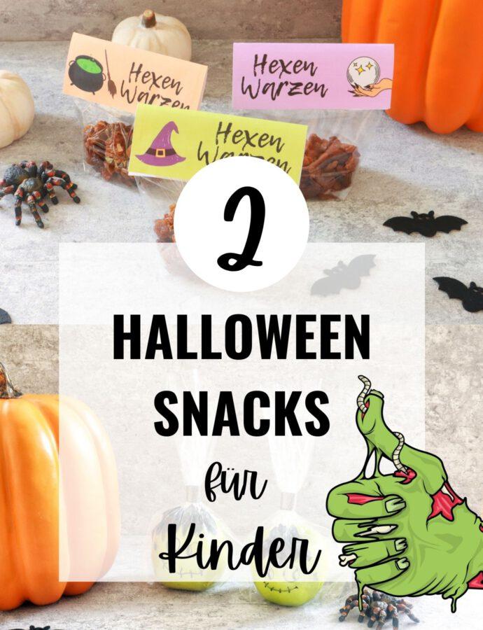 Gesunde Halloween Snacks für Kinder + Videos