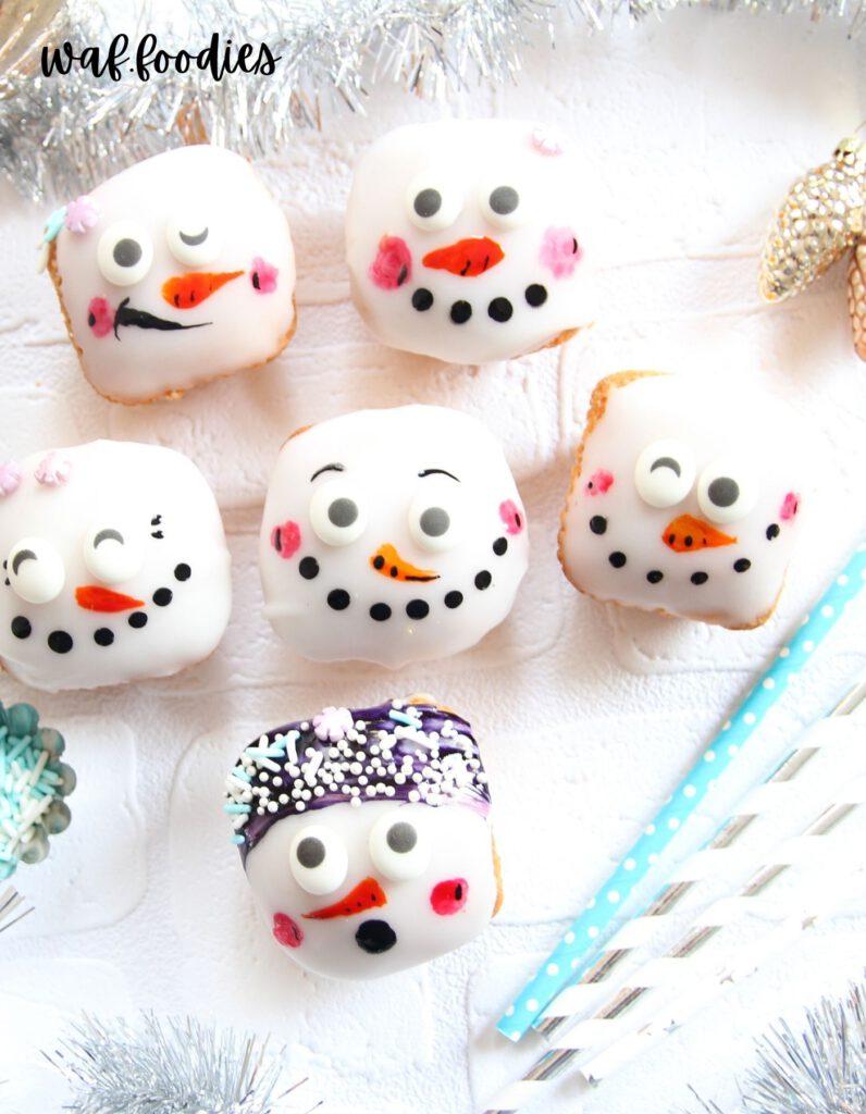 muffins-mit-schneemann-gesicht