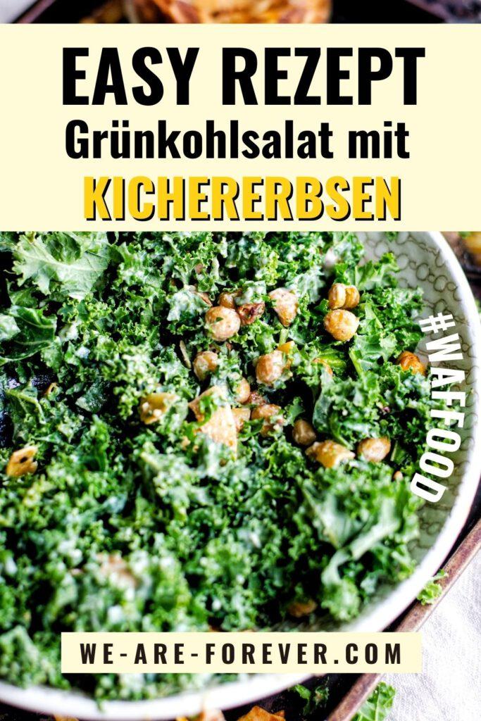grünkohlsalat vegan mit kichererbsen