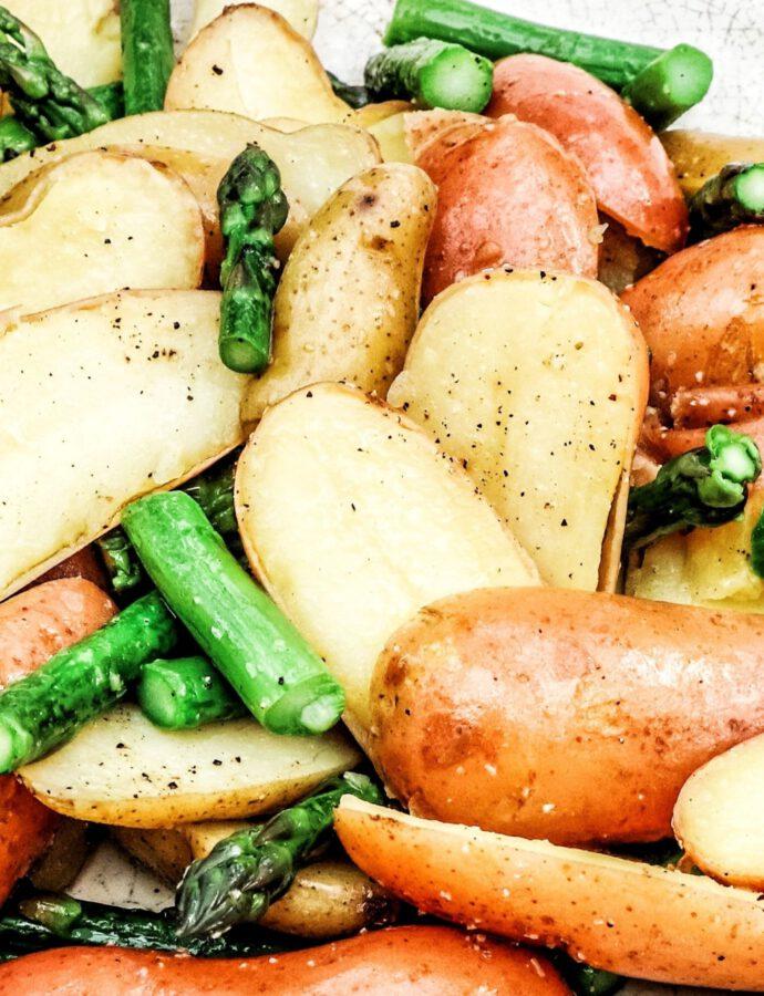 Veganer Kartoffel-Spargel-Salat