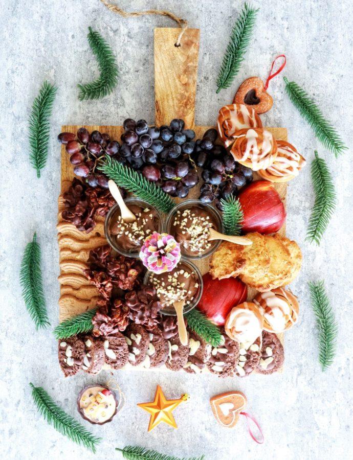 Süße Weihnachts-Snackplatte