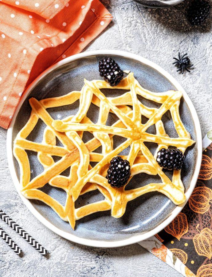 Spinnennetz Pfannkuchen ohne Ei