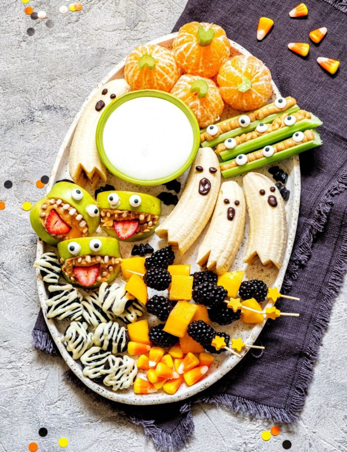 Süße Halloween Snackplatte für die ganze Familie